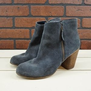 BP Trolley Blue Suede Booties Size 8